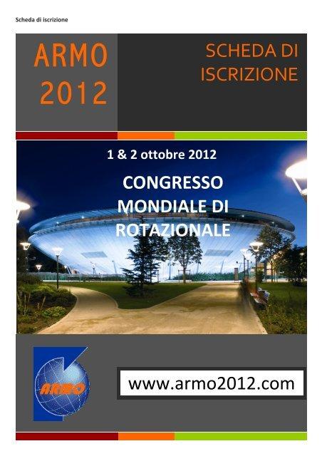 1 & 2 ottobre 2012 - ARMO 2012