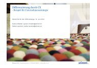 CX Strategie - Customer Experiences That Matter - Stimmt AG