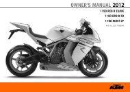 OWNER'S MANUAL 2012 - KTM