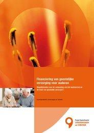 Financiering van geestelijke verzorging voor ouderen - Vilans