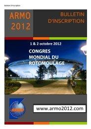 1 & 2 octobre 2012 - ARMO 2012