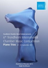 6th Trondheim International Chamber Music Competition - classic ...