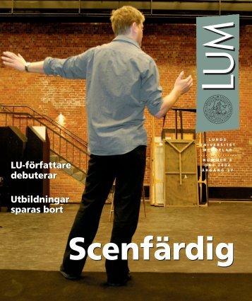 LUM nr 8 - 1 oktober - Humanekologi Lunds universitet