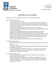 Distal Radius Fracture Guidelines