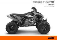 MANUALE D'USO 2012 - KTM