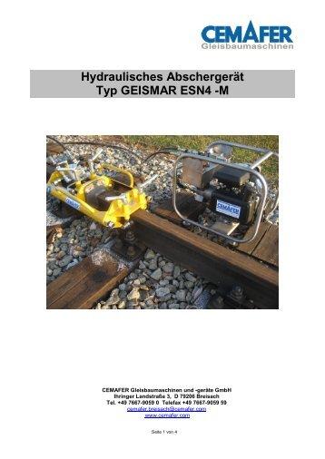 Hydraulisches Abschergerät Typ GEISMAR ESN4 -M - Cemafer GmbH