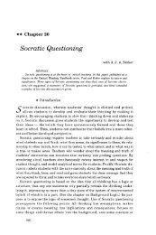 Chapter 20 - Socratic Questioning - The Critical Thinking Community