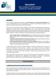 Istruzioni: - Covenant of Mayors