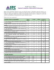On-Line Student Evaluation of Instructor Performance Form