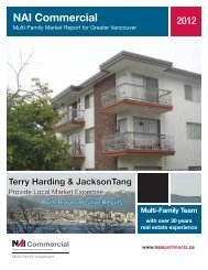 Multi-Family Market Report for Greater Vancouver 2012 - NAI ...