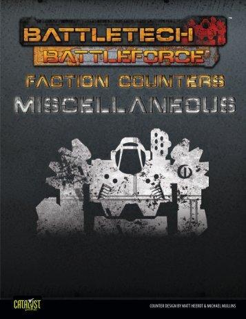 BattleTech: BattleForce Faction Counters - MIscellaneous