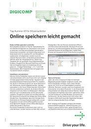 Online speichern leicht gemacht - Digicomp