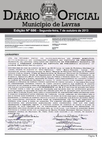Edição 686_07_10_2013 - Prefeitura Municipal de Lavras