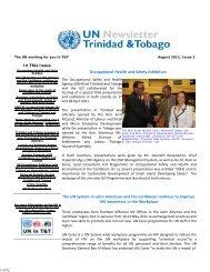 UN Trinidad and Tobago Newsletter August 2011 - UNDP Trinidad ...