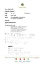 Protokoll 7.desember 2012 - Hadeland