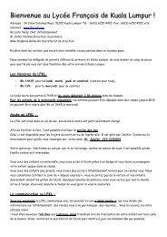 note d'information pour les parents d'élèves sur le conseil d'école