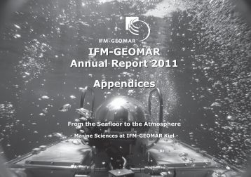 IFM-GEOMAR Annual Report 2011 Appendices