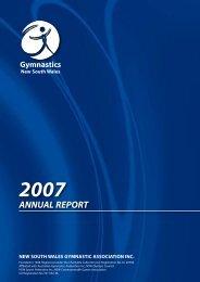 nsw gymnastic association region reports 2007