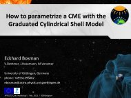 How to parametrize a CME with the Graduated ... - AFFECTS