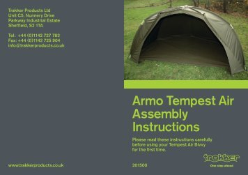 Armo Tempest Air Assembly Instructions - Trakker Products