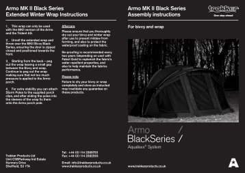 Armo MK II Black Series Assembly instructions - Trakker Products