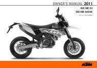 OWNER'S MANUAL 2011 - KTM