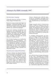 Abstracts fra SMFs årsmøde 1997 (258KB) - Sundhedsstyrelsens ...