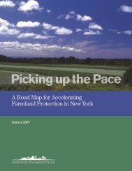 New York: Picking Up The Pace - American Farmland Trust