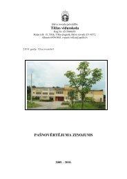 Tilžas vidusskolas pašnovērtējuma ziņojums - Balvi