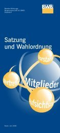 Download Satzung und Wahlordnung 2008 - BWB
