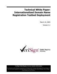 Technical White Paper: Internationalized Domain Name ... - VeriSign