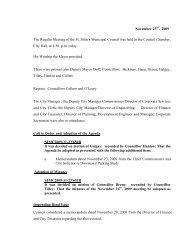 Council Minutes Monday, November 23, 2009 - City of St. John's