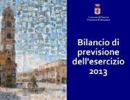 bilancio di previsione 2013 - Comune di Faenza