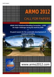 ARMO 2012 Rotational Moulding Convention