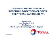 tp-seal® and bio-tpseal® rotomoulding technologies - ARMO 2012