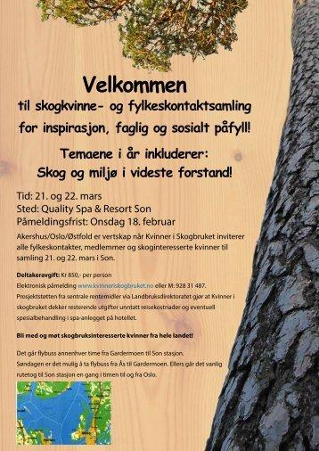 Invitasjon til nettverksamling_Kvinner i Skogbruket
