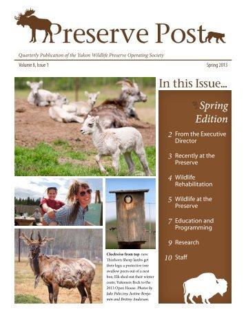Preserve Post - Spring 2013