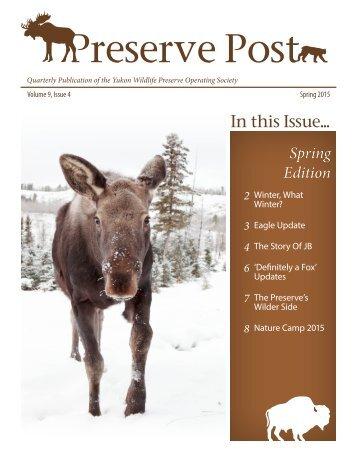 Preserve Post - Spring 2015