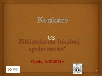 """""""Biblioteki dla lokalnej społeczności"""" Katarzyna Ostrowska"""