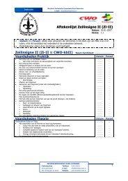 Aftekenlijst Zeilinsigne II (Zi-II) - ScoutNet Nederland