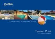 Certikin One Piece Pools - James White Pools