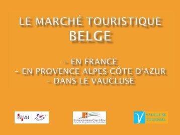 Présentation ATOUT FRANCE Belux - Tourisme en Vaucluse