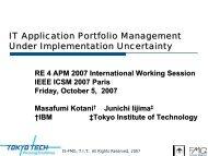 IT Application Portfolio Management Under ... - Is.me.titech.ac.jp