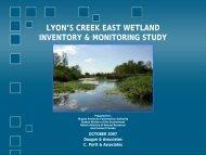 Wetland Characteristics - Niagara Peninsula Conservation Authority