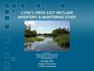 Wetland Characteristics - Niagara Peninsula Conservation Authority
