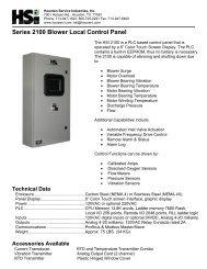 HSI2100 CUTSHEET.pdf - HSI Blowers