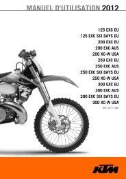 MANUEL D'UTILISATION 2012 - KTM