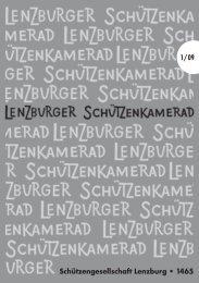 Schützengesellschaft Lenzburg • 1465 1/09 - SG Lenzburg
