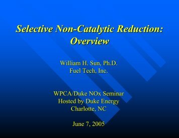 Selective Non-Catalytic Reduction: Overview - Wpca.info
