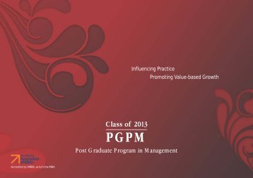 PGPM - 912 Placement Brochure - S.P. Jain Institute of Management ...